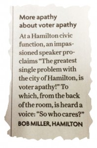 Apathy letter to editor