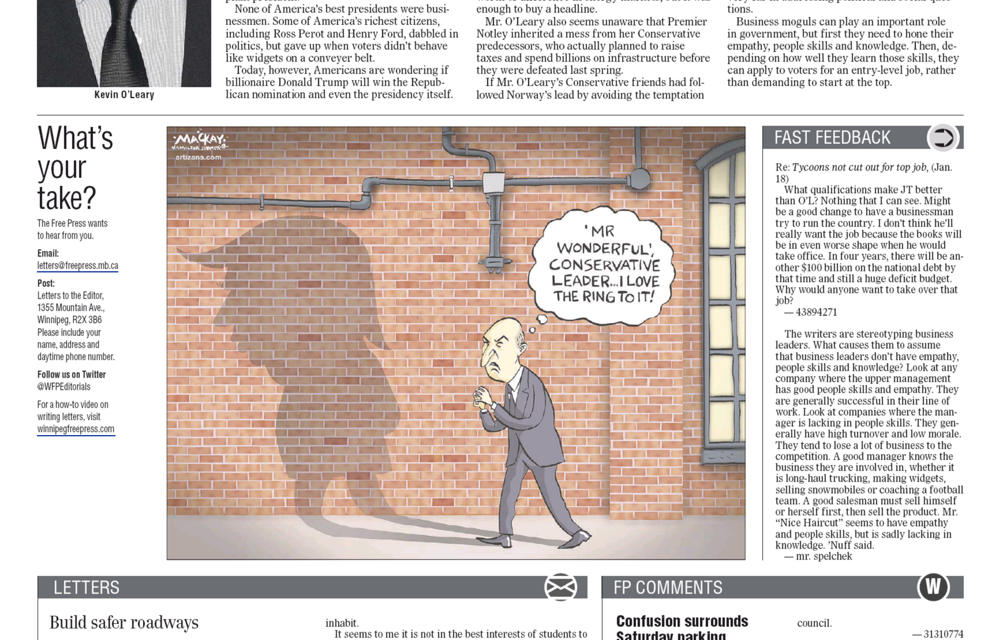 Published in the Winnipeg Free Press, January 18, 2016